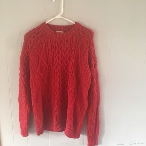 4/$25 Red Merona cable knit crew sweater